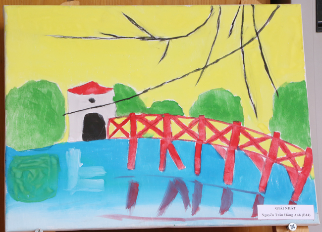 """Các tác phẩm đạt giải tại cuộc thi vẽ tranh thiếu nhi """"Hà Nội - Thành phố em yêu"""""""